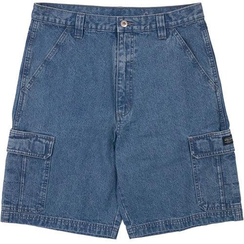 Wrangler - Men's Denim Cargo Shorts - Walmart.com
