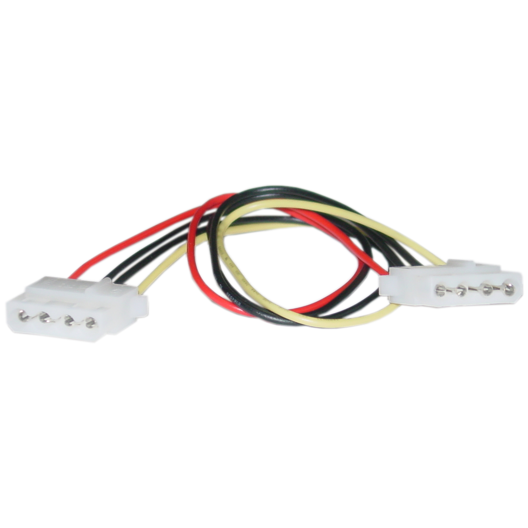 Offex 4 Pin Molex Cable, 5.25 inch Female to 5.25 inch Female, 12 inch - image 1 de 1