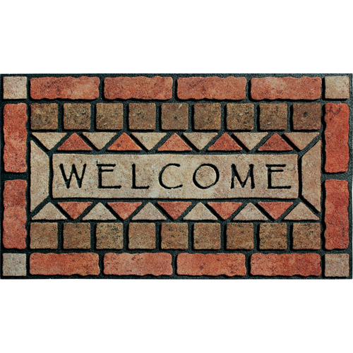 "Masterpiece ""Welcome"" Stones Doormat"