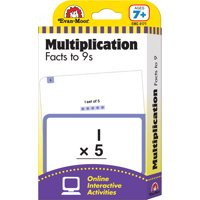FLASHCARD SET MULTIPLICATION FACTS TO 9S