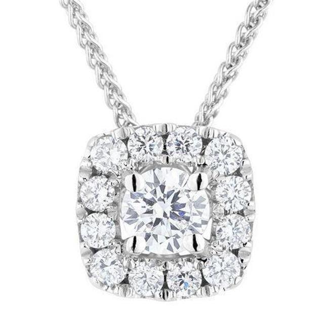 Harry Chad Enterprises HC10287 1.50 CT 14K Womens White Gold Round Cut Diamond Pendant Necklace - image 1 of 1