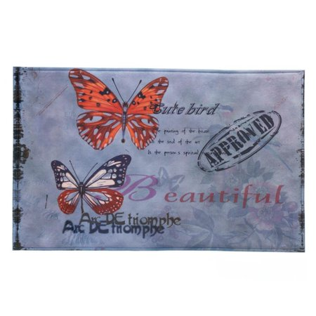House Welcome Mat, Artistic Butterfly Porch Modern Decorative Indoor Welcome Mat ()