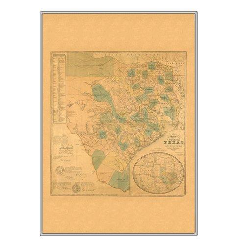 universal map 16475 texas 1853 historical print mounted