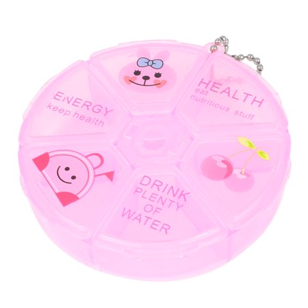 Household Portable Clear Pink 3 Section Round  Storage Box