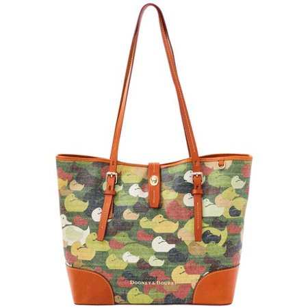 Dooney & Bourke Camouflage Duck Dover Large Tote Bag Dooney & Bourke Denim