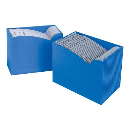 Staples ColorWave Expanding File A-Z Index Letter Size 21-Pockets Blue 453390
