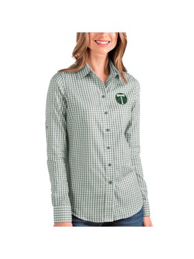 Portland Timbers Antigua Women's Structure Button-Up Long Sleeve Shirt - Green/White