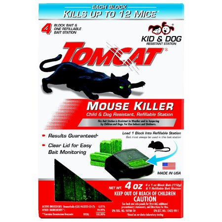 Image of Tomcat Mouse Killer Child & Dog Resistant, Refillable Station (1 Station, 4 Refills)