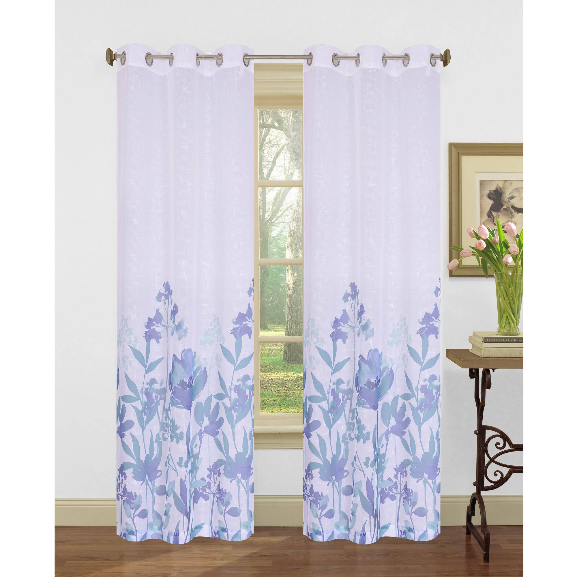 "Bella Flora 84"" Curtain Panel, Set of 2"
