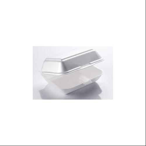 "250 Hinged Lid 1 Compartment Polystyrene Food Containers 9.5"" x 5.5"" x 2.25"""