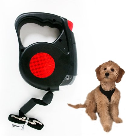 Collars Harnesses Leashes (New 14.5 FT Retractable Pet Dog Leash With LED Flash Light Harness Collar)