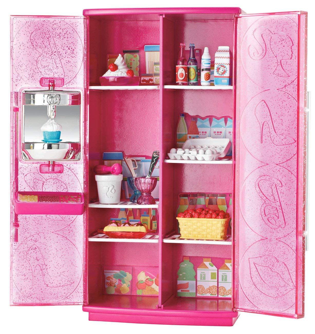 Barbie Basic Furniture Treats to TV Fridge Play Set
