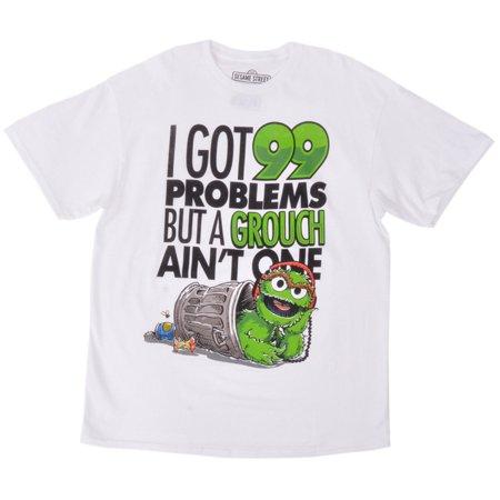 a3766e87 Sesame Street - Sesame Street Tee Shirt Oscar Grouch 99 Problems Cotton  White Authentic Mens - Walmart.com