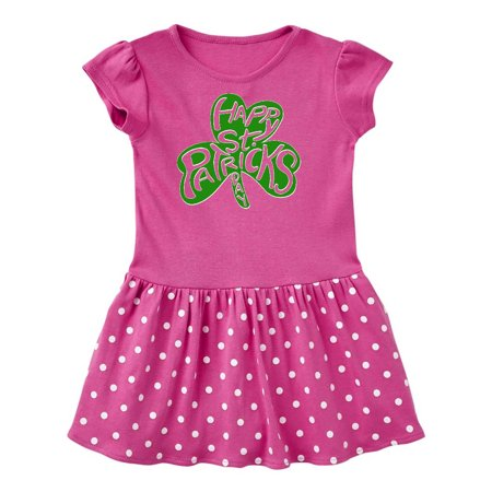 Happy St. Patrick's Day- green shamrock cutout Toddler Dress - St Patrick's Day Dress
