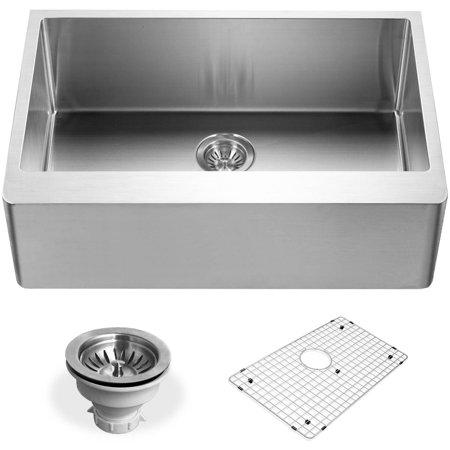 Houzer ENS-3020 Epicure Series Apron Front Single Bowl Kitchen Sink