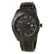 PS9315 Men's On The Go Black Dial Black IP Steel Bracelet Watch
