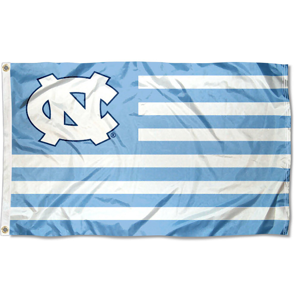 North Carolina Tar Heels American Flag Design 3' x 5' Flag