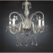 Swarovski Crystal Trimmed Chandelier! New! Authentic All Crystal Chandelier