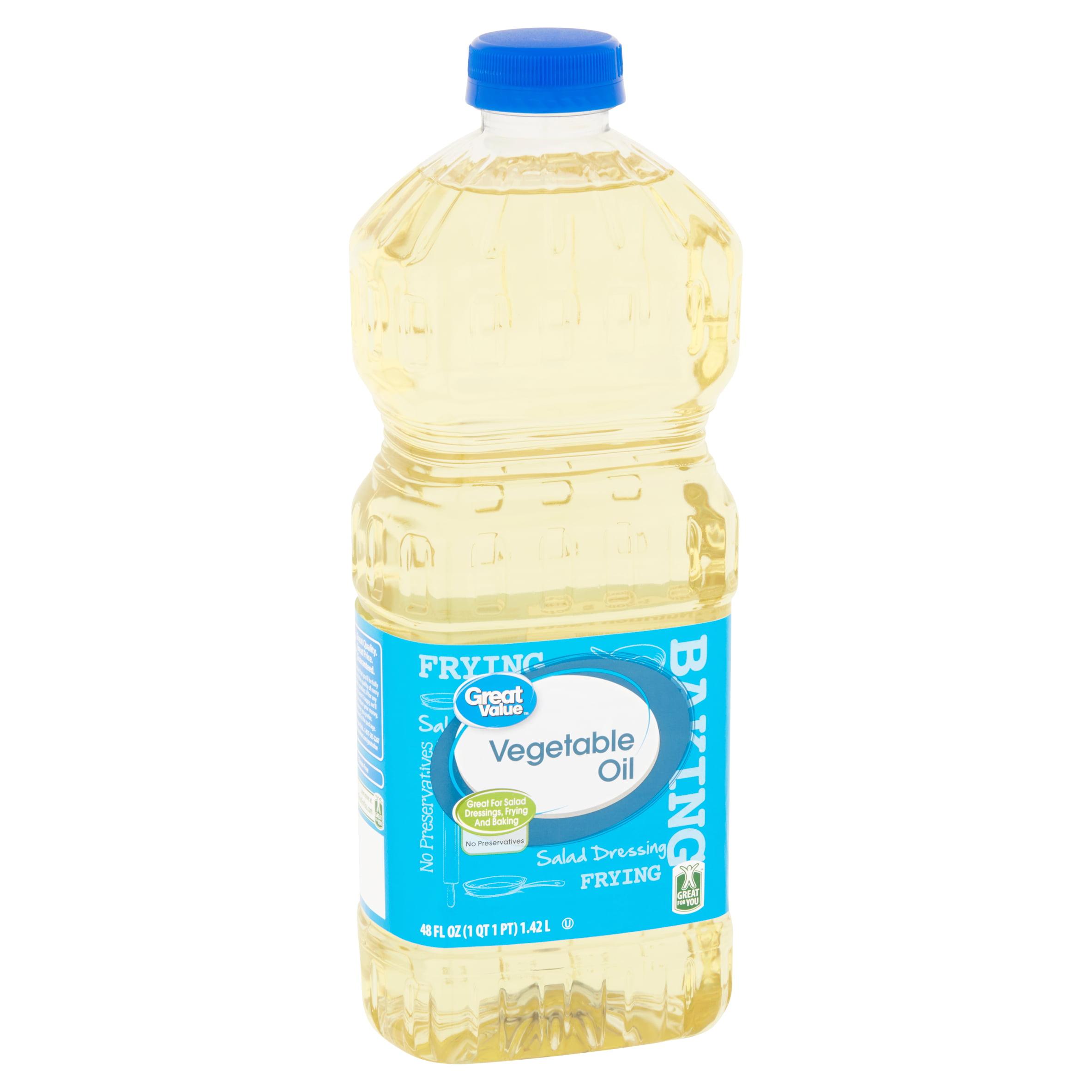 (3 Pack) Great Value Vegetable Oil, 48 fl oz