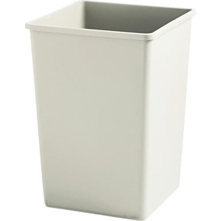 35 gallon rubbermaid beige square trash can. Black Bedroom Furniture Sets. Home Design Ideas