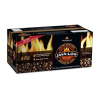 Pine Mountain Java-log Firelog, 4-Hour Burn Time, Recycled Coffee Grounds, 4 Logs