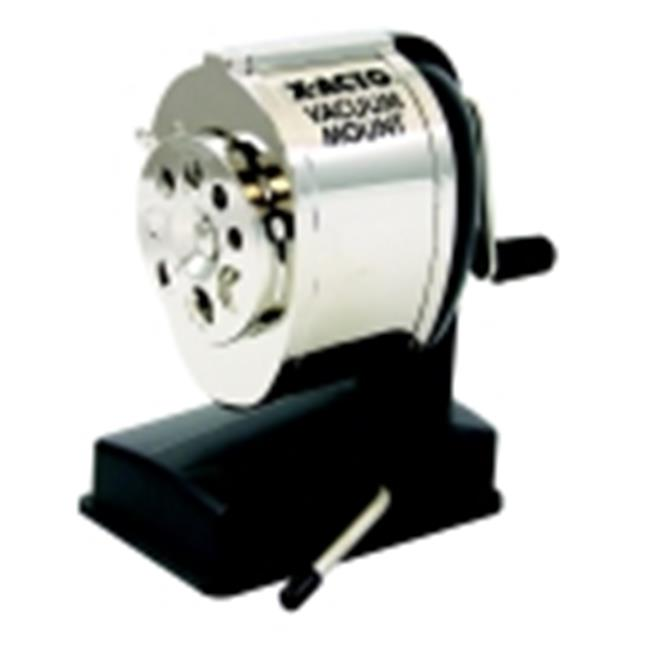 Boston Portable Vacuum Mount Pencil Sharpener, Silver & Black