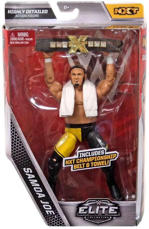 WWE Wrestling Elite Samoa Joe Action Figure [NXT Championship Belt & Towel!] by Mattel