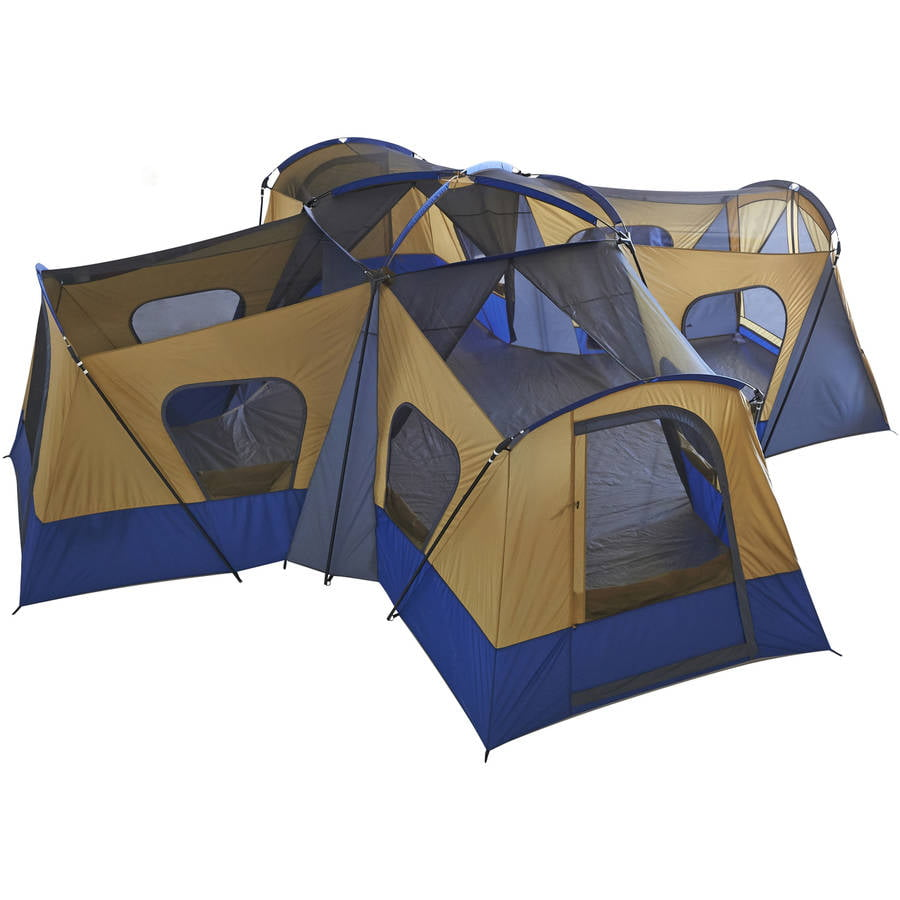 Gentil Ozark Trail 14 Person 4 Room Base Camp Tent   Walmart.com