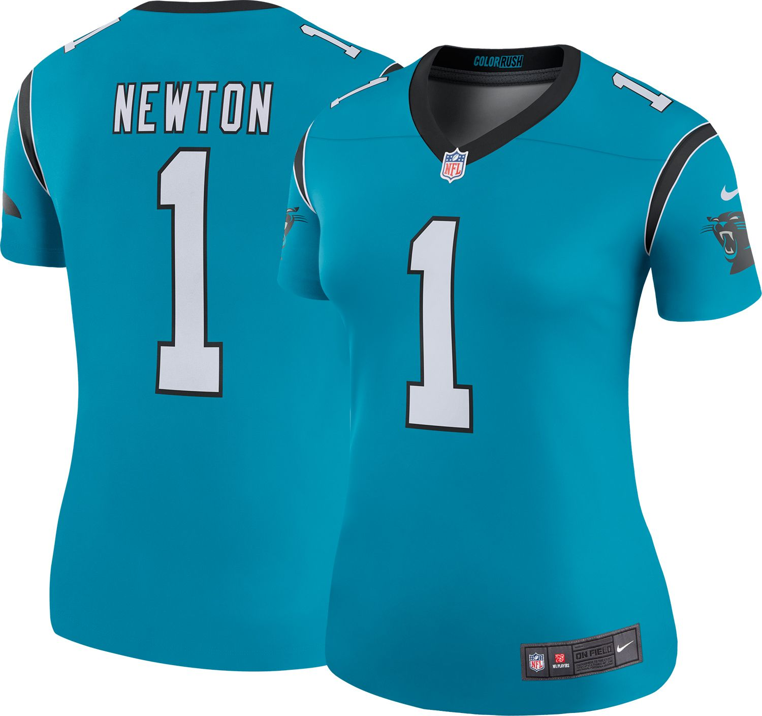 Women's Nike Cam Newton Blue Carolina Panthers Color Rush Legend Jersey