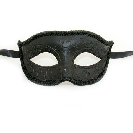 Luxury Mask Unisex Sparkle Venetian Masquerade Mask Adult Halloween Accessory - Halloween Mask White And Black