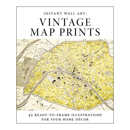 Instant Wall Art - Vintage Map Prints : 45 Ready-to-Frame ...