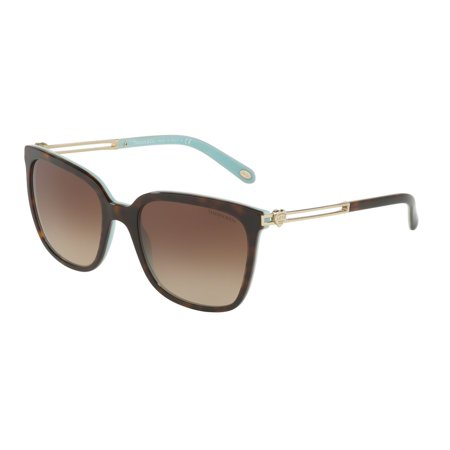 Tiffany 0TF4138 Full Rim Phantos Womens Sunglasses - Size 54 (Brown Gradient)