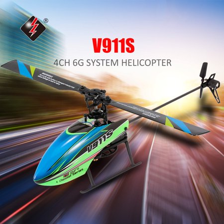 WLtoys V911S 4CH 6G Non-aileron RC Helicopter with Gyroscope for Training Kids Toys Children (Best Training Rc Helicopter)