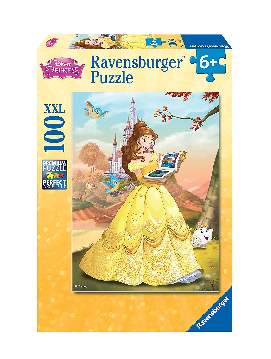 Ravensburger Belle Reads a Fairy Tale Puzzle (100 Piece), XX-Large by