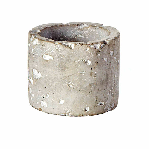 "3"" x 2.5"" Cement Round Pot, Pack of 6"