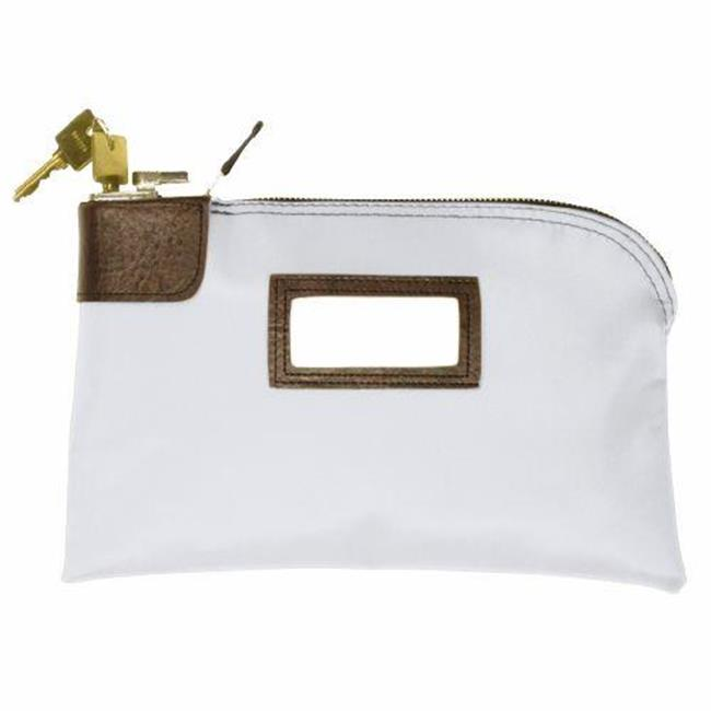MMF 2330961M06 7 Pin Standard Locking Security Bag - 10. 5 Inches X 9 Inches - Nylon White