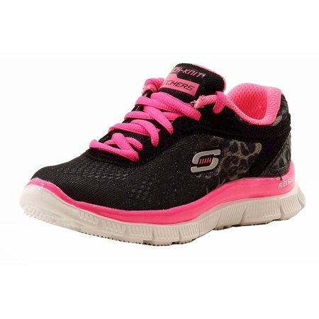 Skechers Girls Skech Appeal Serengeti Black Fashion Memory Foam Sneakers Shoes (Skechers Memory Foam Shoes Girls)
