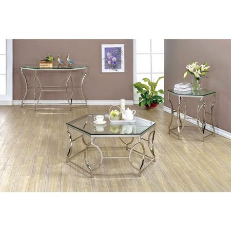 Furniture Of America Remus Hexagonal 3 Piece Coffee Table Set