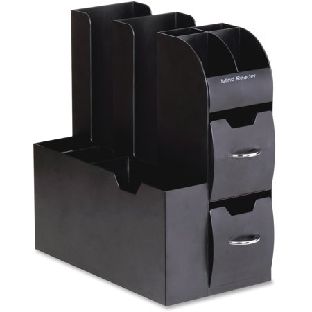 Mind Reader, EMSCAD01BLK, EMS Mind Compact All In One Coffee Pod Caddy, 1 Each, Black Body,Handle (Buffet Caddy)