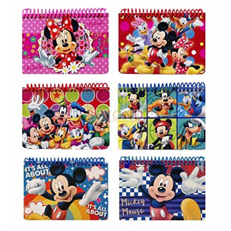Party Favors Disney and Minnie Autograph Note pads Book- 2 pcs, This is Mickey mouse and friends spiral autograph book. By Mickey Mouse - Minnie And Mickey Mouse Halloween Coloring Pages
