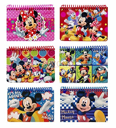 Party Favors Disney and Minnie Autograph Note pads Book- 2 pcs, This is Mickey mouse and friends spiral autograph book. By Mickey Mouse