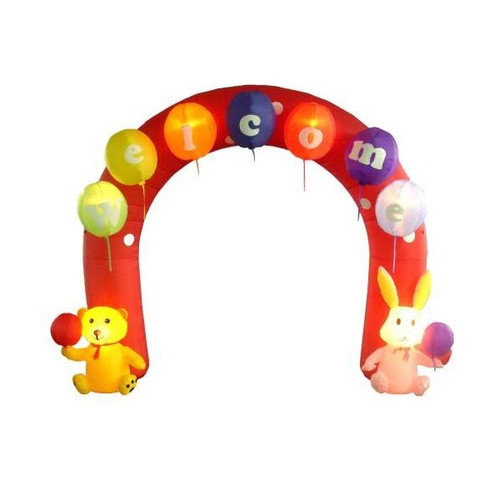 BZB Goods Easter Inflatable Arch with Rabbit and Bear Decoration