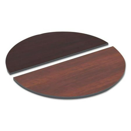 ALE Half Round Reversible Laminate Table Top, Medium Cherry & Mahogany - 48 x 24 in.