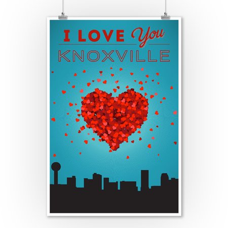 I Love You Knoxville, Tennessee - Lantern Press Artwork (9x12 Art Print, Wall Decor Travel Poster) (Island Home Knoxville Halloween)