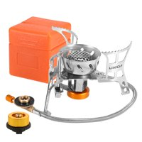Portable Windproof Camping Gas Outdoor Cooking Foldable Split with Gas Conversion Head Adapter