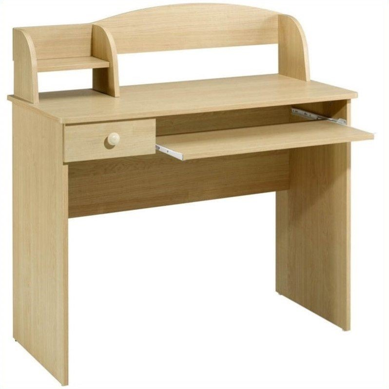 Nexera Alegria Kids Desk with Shelf, Natural Maple