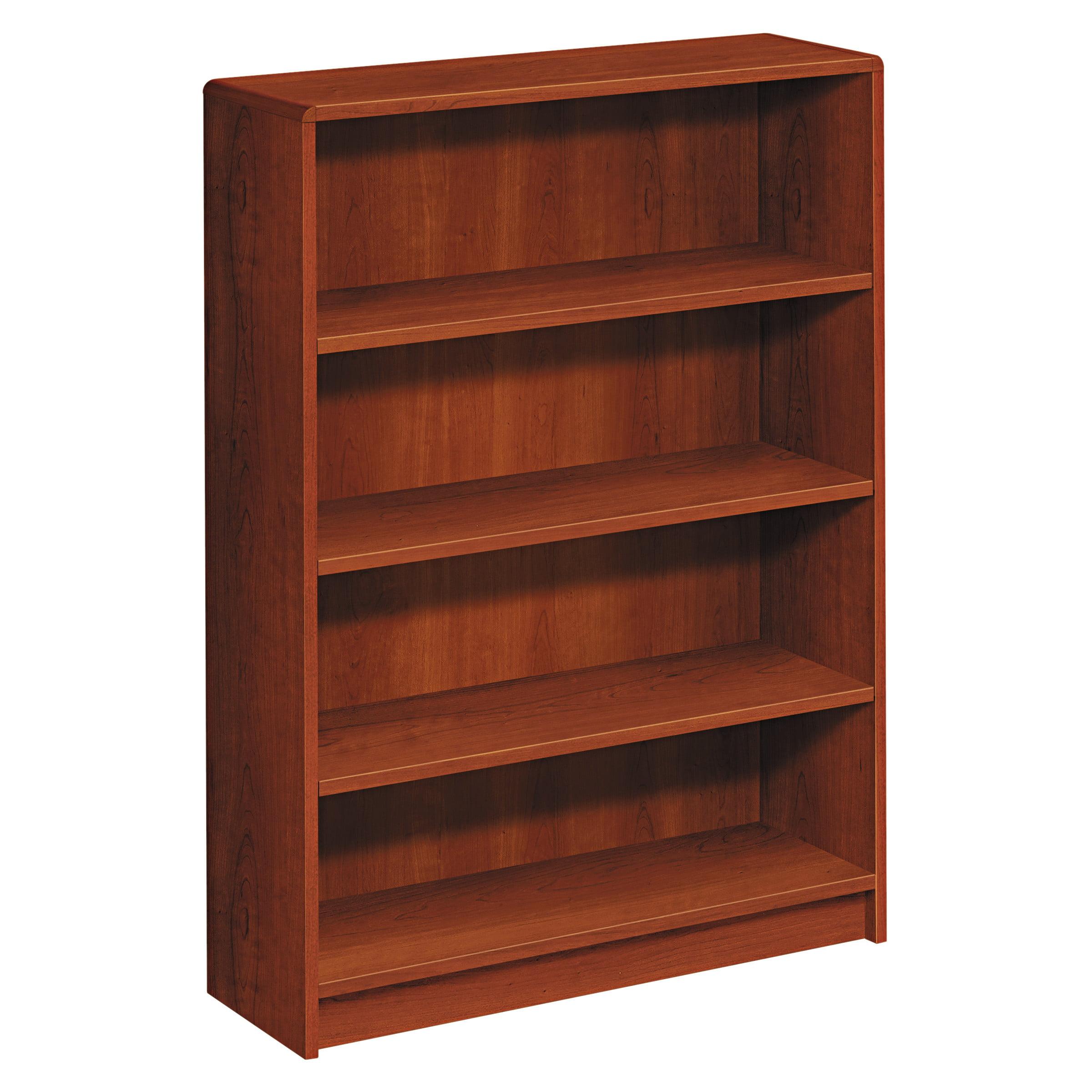 HON 1890 Series Bookcase, Four Shelf, 36w x 11 1/2d x 48 3/4h, Cognac