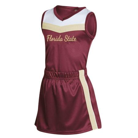 Florida State Football Halloween Costume (Girls Infant Russell Athletic Garnet Florida State Seminoles 3-Piece Cheer)