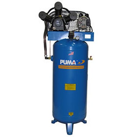 Puma Industries Air Compressor  Pk 7060V  Professional Commercial Single Stage Belt Drive Series  6 5 Hp Running  135 Max Psi  230 1 Voltage Phase  60 Gallons  360 Lbs