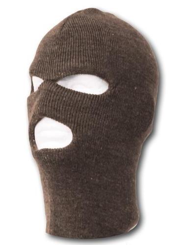 TopHeadwear's 3 Hole Face Ski Mask, Brown by TOP HEADWEAR